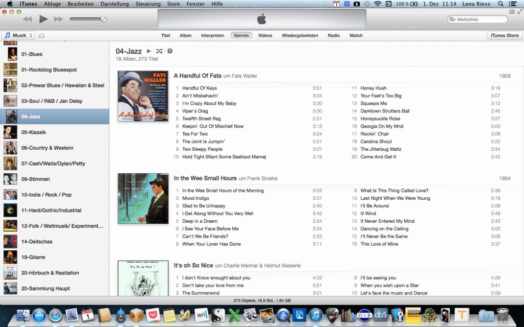 Die neue Benutzeroberfläche um iTunes.